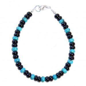 Bracelet Homme Turquoise Tourmaline noire