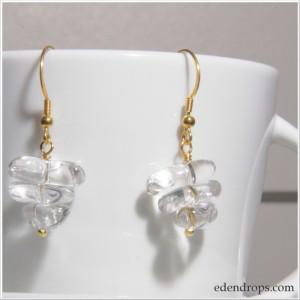 Boucles d'oreilles en Cristal de roche et vermeil
