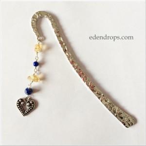 MP Lapis lazuli, citrine et coeur pour B.