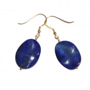 Boucles d'oreilles dorée : Lapis lazuli et vermeil - EDENDROPS