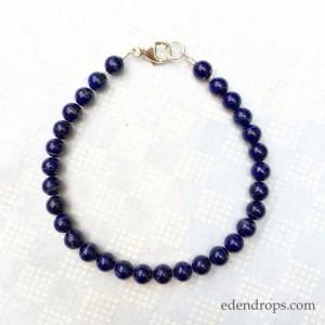 Bracelet homme lapis lazuli fermoir argent - EDENDROPS