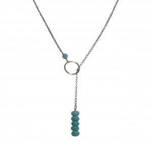 Collier cravate Amazonite