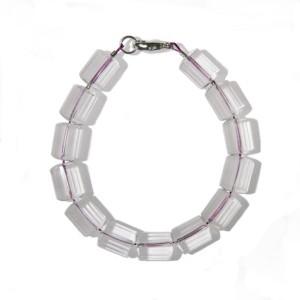 Bracelet Homme Cristal de roche facetté