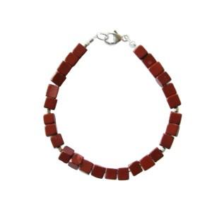 Bracelet Homme Jaspe rouge