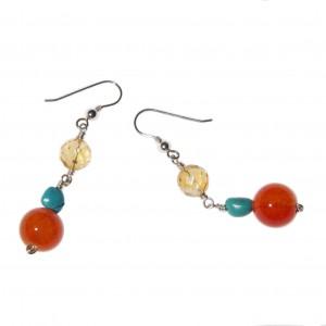 Boucles d'oreilles Eté Indien III (Turquoise)