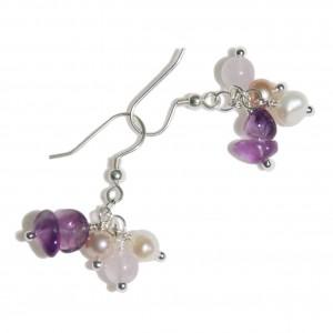 Boucles d'oreilles Lavender Drops