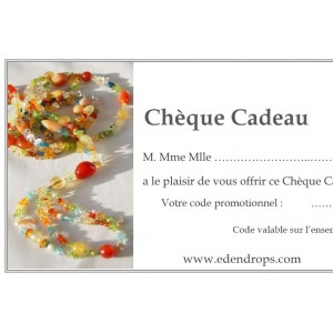 Chèque Cadeau EDENDROPS