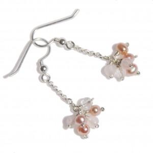 Boucles d'oreilles Fiore Rosa version courte