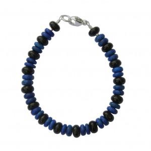 Bracelet Homme Lapislazuli & Tourmaline noire